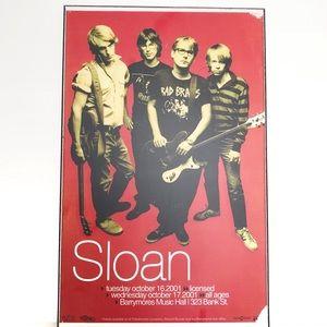 Sloan Concert Poster Ottawa Barrymore Concert Hall